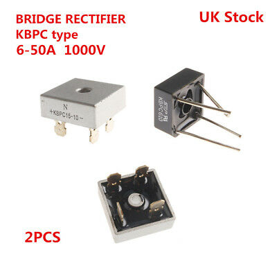 2PCS BRIDGE RECTIFIER - Many Types from 6 to 50A amp max.1000v - UK Stock