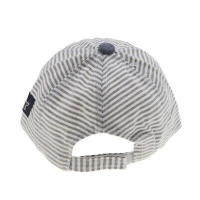 Baby Toddler Kids Peaked Baseball Cap Boys Girls Summer Cotton Striped Hat 6-18M