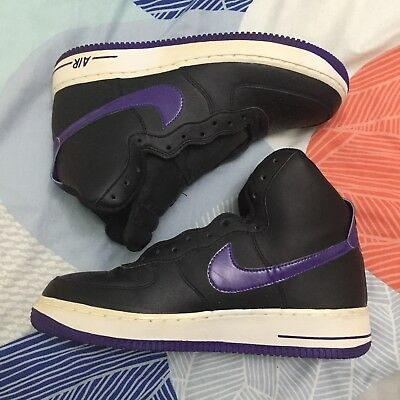 Purple And Black Nike Air Force One Hightop Shoes Size Mens US8