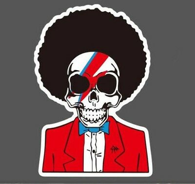 Bowie/Michael Jackson Skull Sticker Decals for Laptop,Mobile Phone AUSSIE SELLER