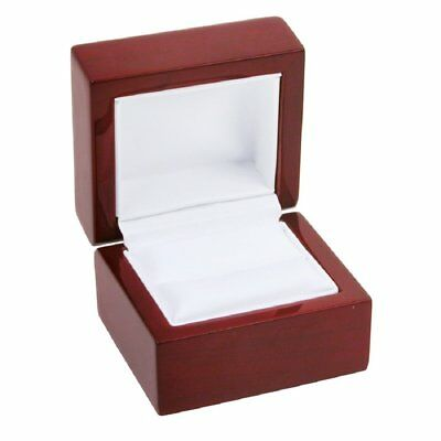Rosewood Stained Ring Gift Box Jewelry Display