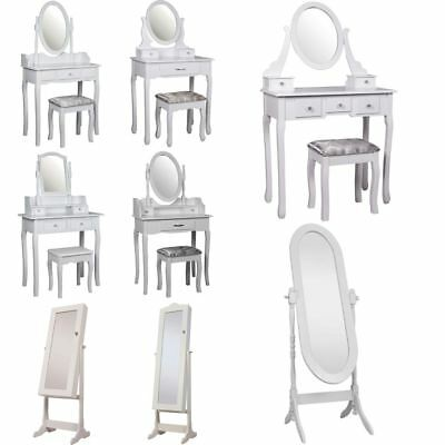 Nishano Dressing Table Mirror Jewellery Cabinet Bedroom Makeup Furniture White