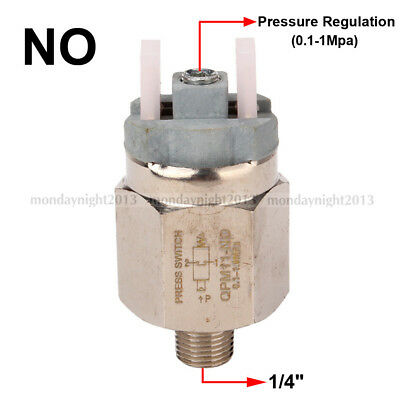 """Plastic+Stainless Steel 1/4"""" Adjustable Diaphragm Pressure Controller NO Switch"""