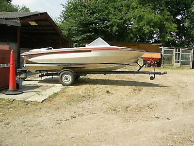 Glastron 16ft Speedboat and trailer circa 1968