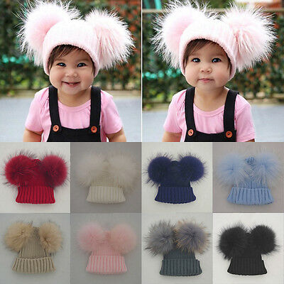 Lovely Toddler Kids Girl&Boy Baby Infant Winter Warm Crochet Knit Hat Beanie Cap