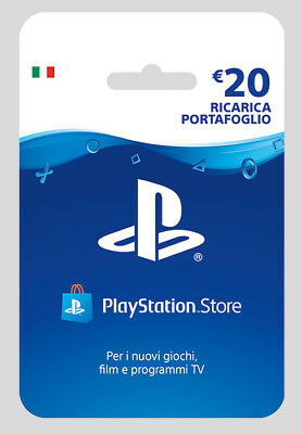 Sony PSN Playstation Store Hanging Card 20 Euro Ricarica Portafoglio