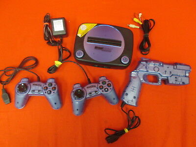 Virtual Station Interactive TV Video Game With 2 Controllers And Gun 9057