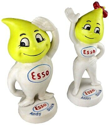 Esso Oil Andy and Abby Slick Pair - Cast Iron Money Box Coin Bank