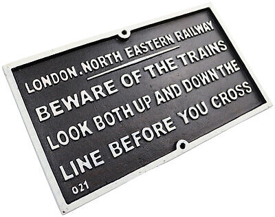London North Eastern LNER - Cast Iron Train Railway Sign Plaque