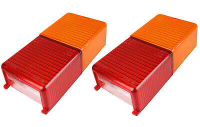 2 Rectangular Spare Replacement Lenses - Fits MP10B Trailer Lights - MP12B