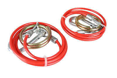 2 Trailer Safety Breakaway Cables - 1 metre x 2mm diameter - PVC Coated MP498B