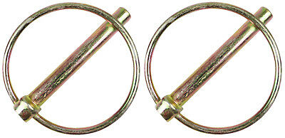2 x 9.5mm Jumbo Linch Lynch Pins For Trailers Length Of Pin 720mm