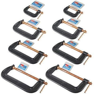 8 Hilka G Clamps - 2 inch 4 inch 6 inch 8 inch - 2 of each
