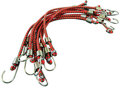 """Mini Bungee Cords 10 x 10"""" Elastic Strap Trailer Bungees Bungy Hook"""