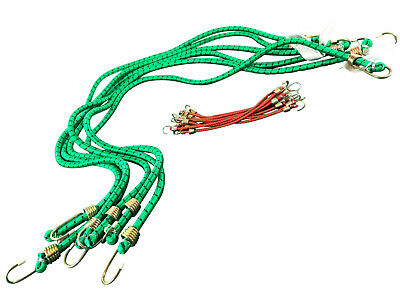 """Bungee Cords 6 X 48"""" AND 10 x 10"""" Elastic Strap Trailer Bungees Bungy Hook"""