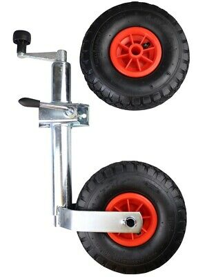 Jockey Wheel Leg and Clamp - 48mm and Spare Red Pneumatic Tyre MP437