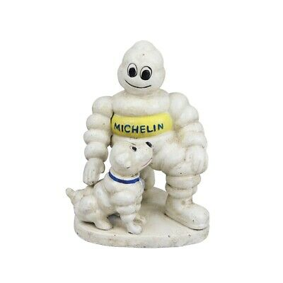 Michelin Man and Dog - Cast Iron Ornament Figure Painted