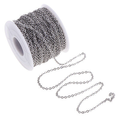 1 Roll Flat Round Stainless Steel Cable Chain DIY Craft Findings Supplies