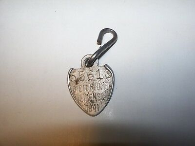 Vintage 55613 Detroit License Badge dog Tag 1941
