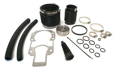 TRANSOM BELLOW REPAIR KIT w/ U Joint, Exhaust & Shift Bellows, Water Hoses, More