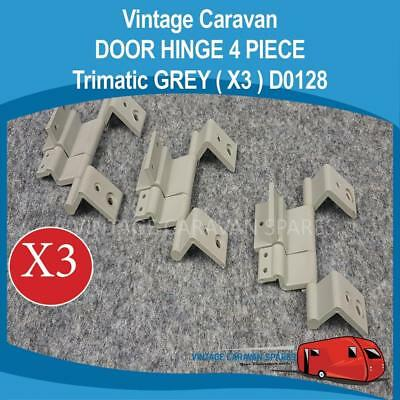 Caravan DOOR HINGE 4 PIECE Trimatic ( GREY X3 ) Vintage   D0128