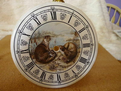 "Ceramic 6"" Dia  Clock Dial with Otter Picture..Roman Numerals..Unused....VGC.."