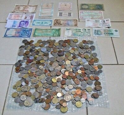 *** Large Job Lot Of Foreign Currency - Notes & Coins - Over 2kg !! ***