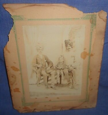Vintage Rare Collectible Group Photograph Of Royal Indian Family