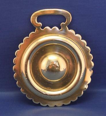 A Very Nice Vintage Double Circle Stamped Horse Brass