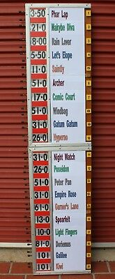 Vintage BOOKMAKER'S  BETTING  BOARD  Good Working Order  (20 runners)