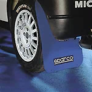 4 x Blue Sparco Logo Rally Style Car Exterior Styling Mudflaps - Universal Fit