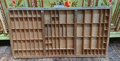 Vintage Printing Letterpress Typeface Drawer wall display x1 old tray printers