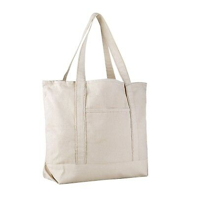Extra Large Heavy Canvas Boat Tote Bag, Beach Totes, Reusable Grocery Shopping