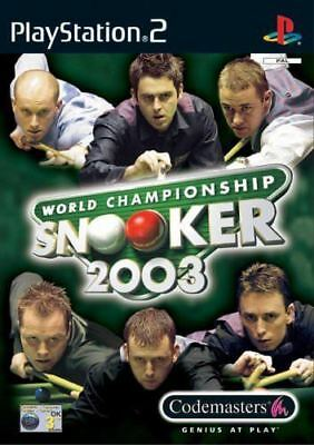 World Championship Snooker (2003) PS2 Game