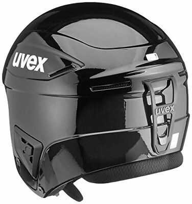 UVEX Erwachsenen Race + Skihelm, All Black, 56-57 cm, Restposten