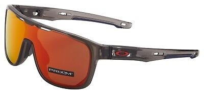 235b61cdfd Oakley Crossrange Shield Sunglasses OO9387-0431 Matte Grey Smoke