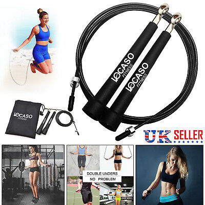 3Meter Adjustable Speed Skipping Rope Steel Cable Fitness Exercise Gym Crossfit