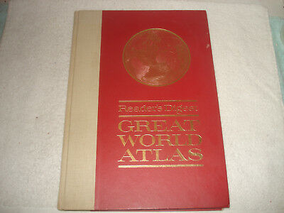 Vintage Readers Digest Great World Atlas 1st Edition 1963 Hardcover 11 x 16