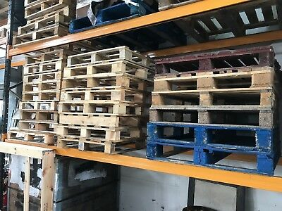 PALLETS - lots and lots, various sizes, euro and non-standard. Most once-used