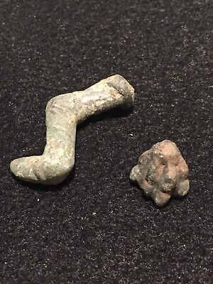 Ancient Roman Artifacts,leg And Hoof, Parts Of Figurine, Circa 1st-3rd C, AD.