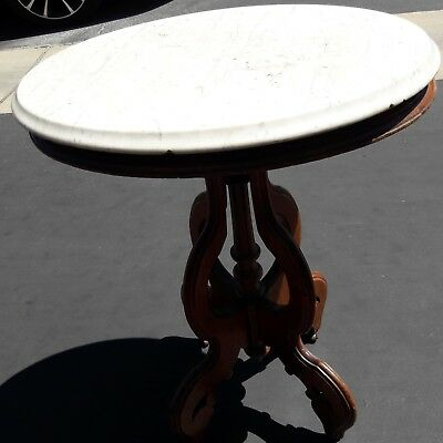 Antique End Table marble top