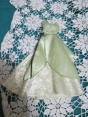 Vintage Barbie  Tiana Doll Beautiful Green & Gold Dress Gown Replacement