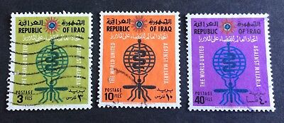 3 nice old used stamps Republic of Iraq 1962 complete set