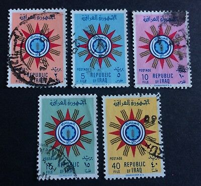 5 nice old used stamps Republic of Iraq 1959