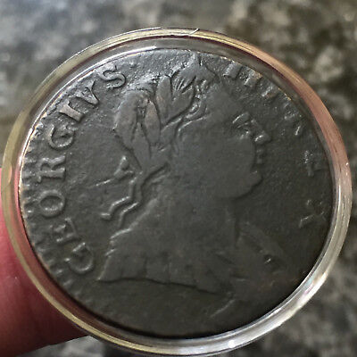 1776 Colonial Times George III Invasian 1/2 Penny