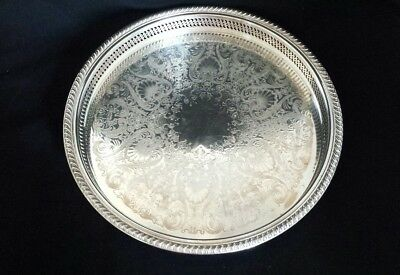 Large Wm Rogers Silverplate Gallery Tray