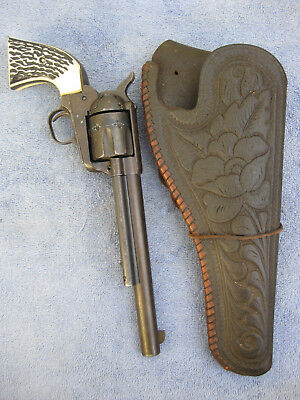 Antique Cowboy Western RELIC LEATHER HOLSTER for Large Revolver COLT S&W ETC ?
