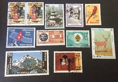 Nepal 11 used stamps