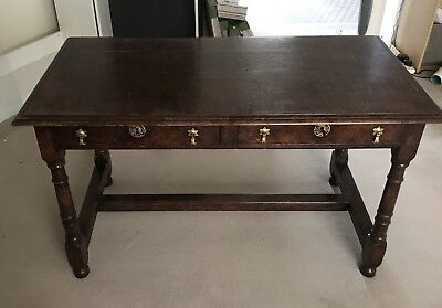 Beautiful ANTIQUE REPRODUCTION Oak WRITING Desk with Lockable Draws