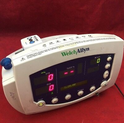 WELCH ALLYN 53STP 007-0229-00 Vital Signs Patient Monitor w/Printer See Listing